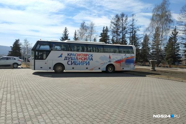 Эти автобусы были закуплены перед Универсиадой