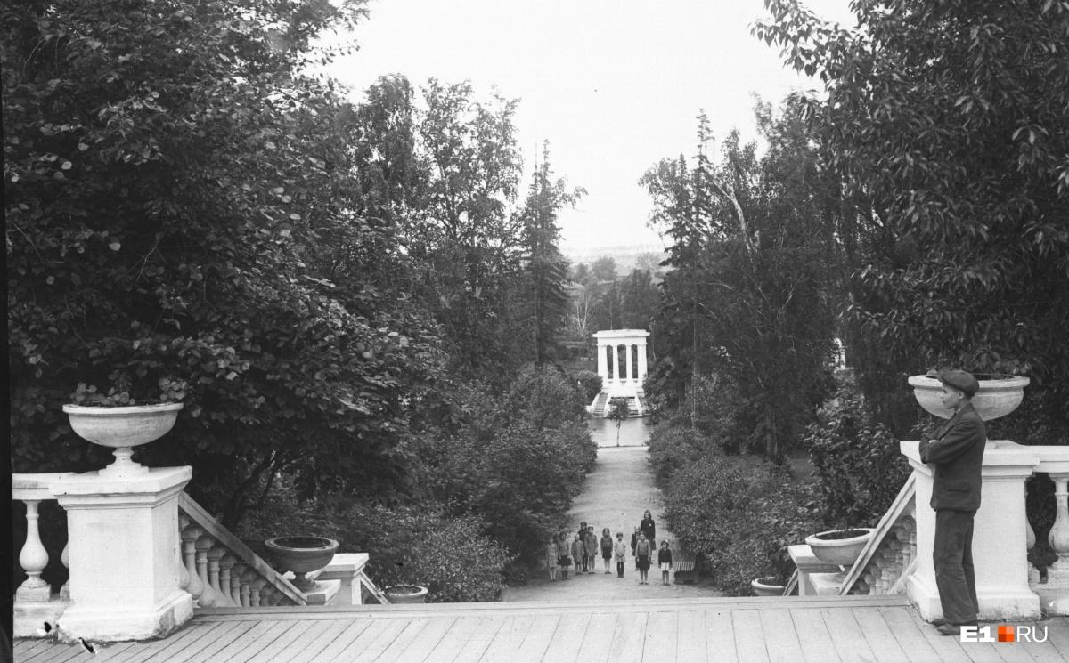 Аллея в парке Дворца пионеров. 1946 год
