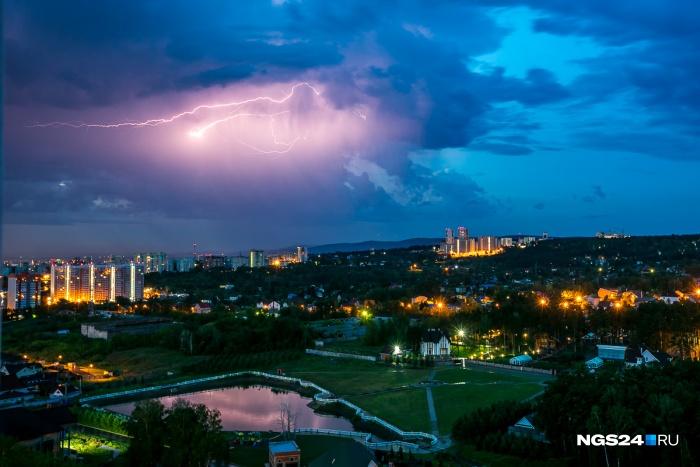 Грозу ожидают в Красноярске уже сегодня