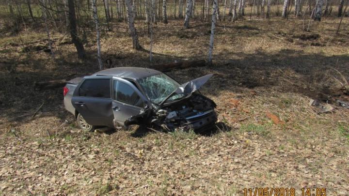 В Башкирии перевернулась «Лада-Гранта»: 37-летняя пассажирка погибла на месте