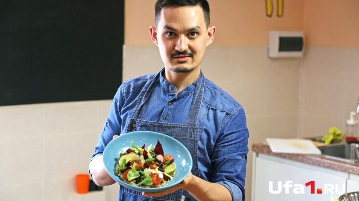 Мясо страуса, фенхель и сельдерей: уфимский шеф-повар раскрыл рецепт ресторанного салата