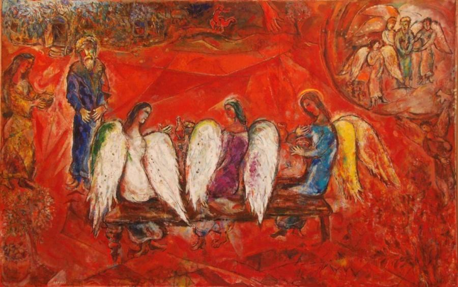 Это иллюстрация к Библии от Марка Шагала
