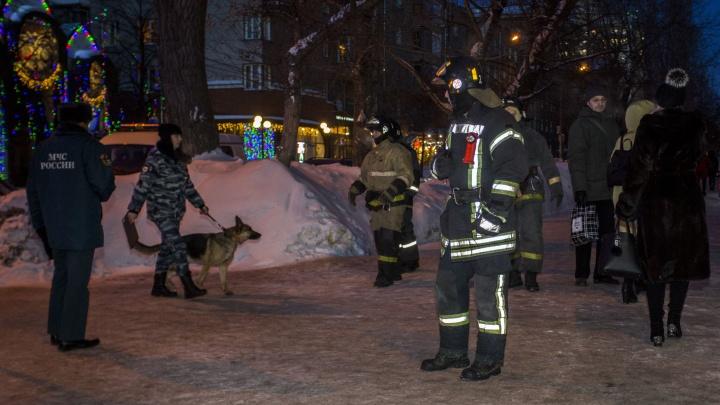 К дому на улице Ленина приехали пожарные и полицейские с собаками