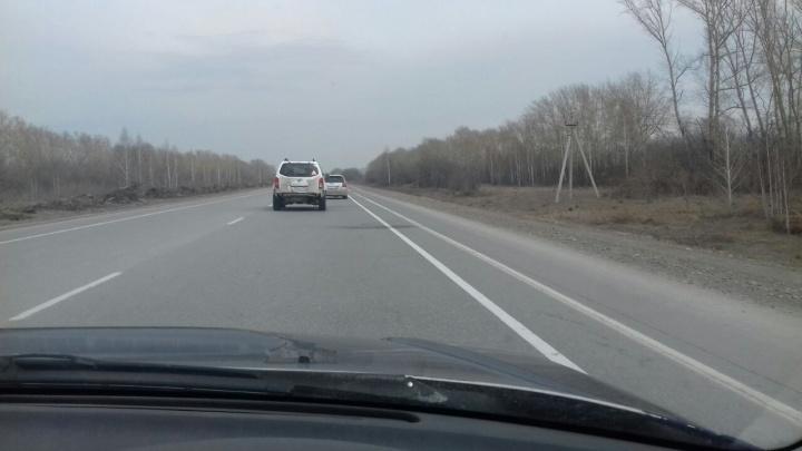 Чтобы бились меньше: на трассе в Новосибирской области появилась необычная разметка