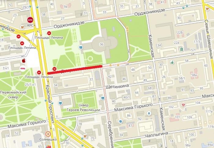 Объехать перекрытый участок можно будет по соседним улицам