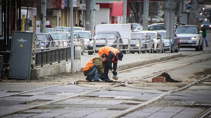 Всё для автомобилистов: в центре Челябинска отремонтируют перекрёсток с трамвайными путями