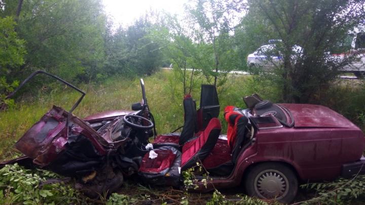 Срезали крышу: на трассе в Самарской области «семерка» залетела под КАМАЗ