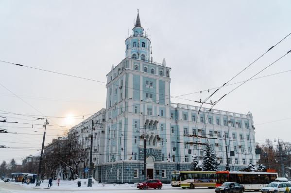 Это здание 50-х годов, возможно, скоро будет принадлежать краевым властям