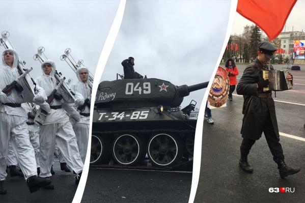 Памятный парад по зрелищности не уступил историческому