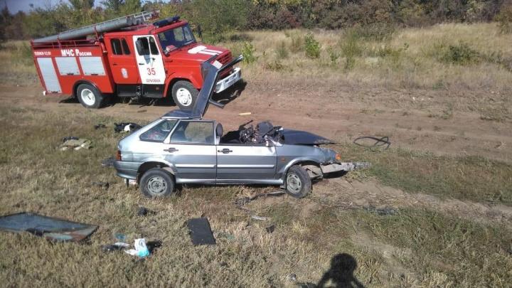 Две аварии на километр: на саратовской трассе столкнулись девять автомобилей