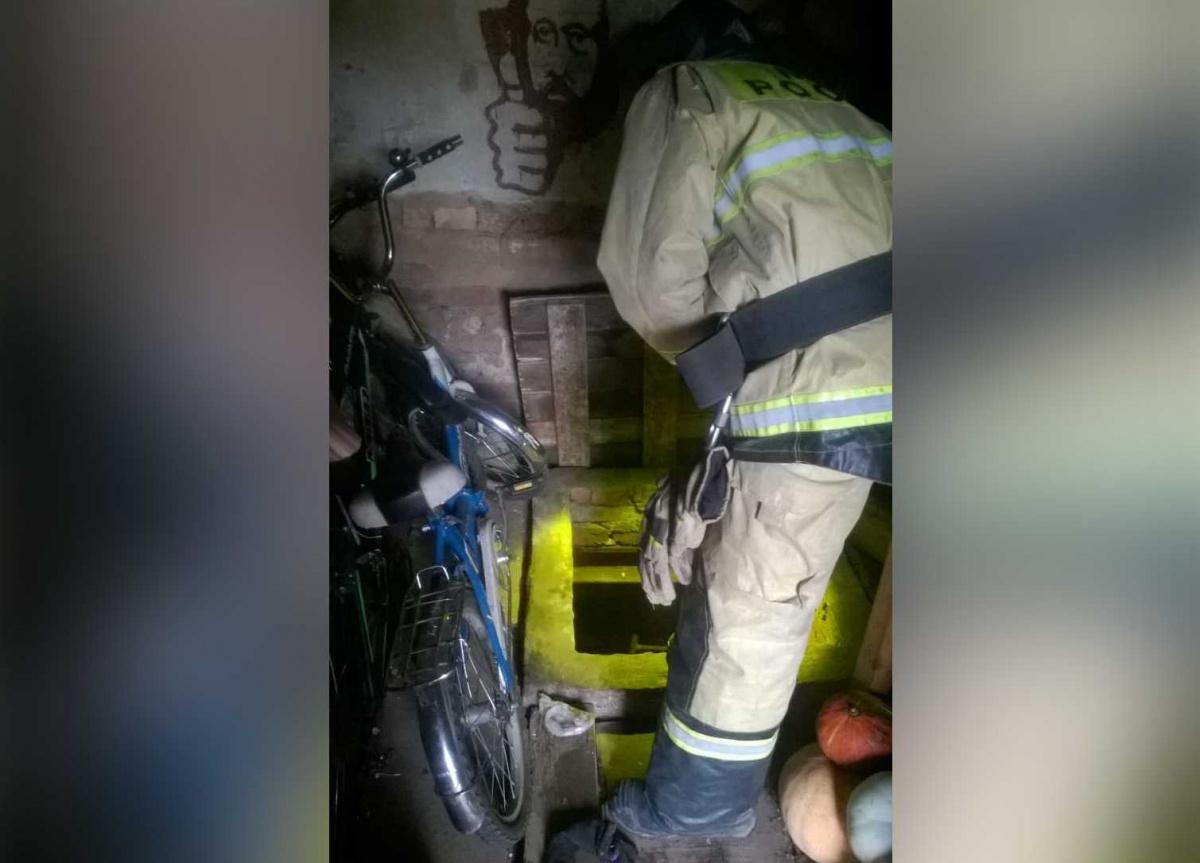 Выбраться из западни мужчине помогли пожарные