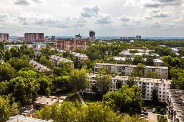 Зелёный Ботанический жилмассив в Заельцовском районе оказался одним из самых привлекательных для новосибирцев