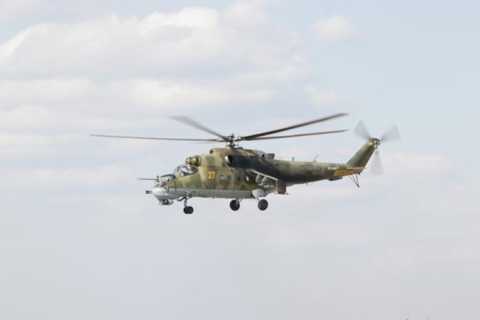 Звено Ми-24 проходило капитальный ремонт наЧитинском авиаремонтном заводе