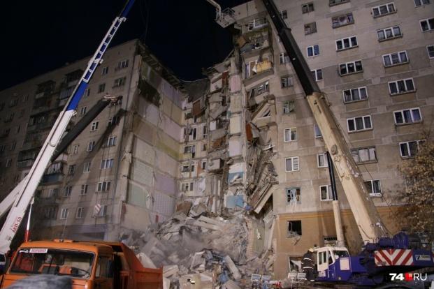 Обрушенные квартиры превратились в завалы высотой в три этажа