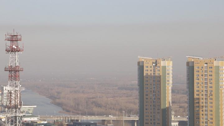 Показываем эпичное видео, как едкая дымка затянула Красноярск