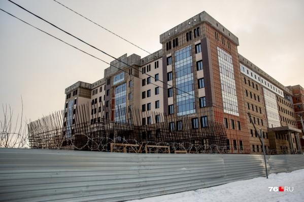 Здание УМВД на проспекте Фрунзе строят с 2015 года