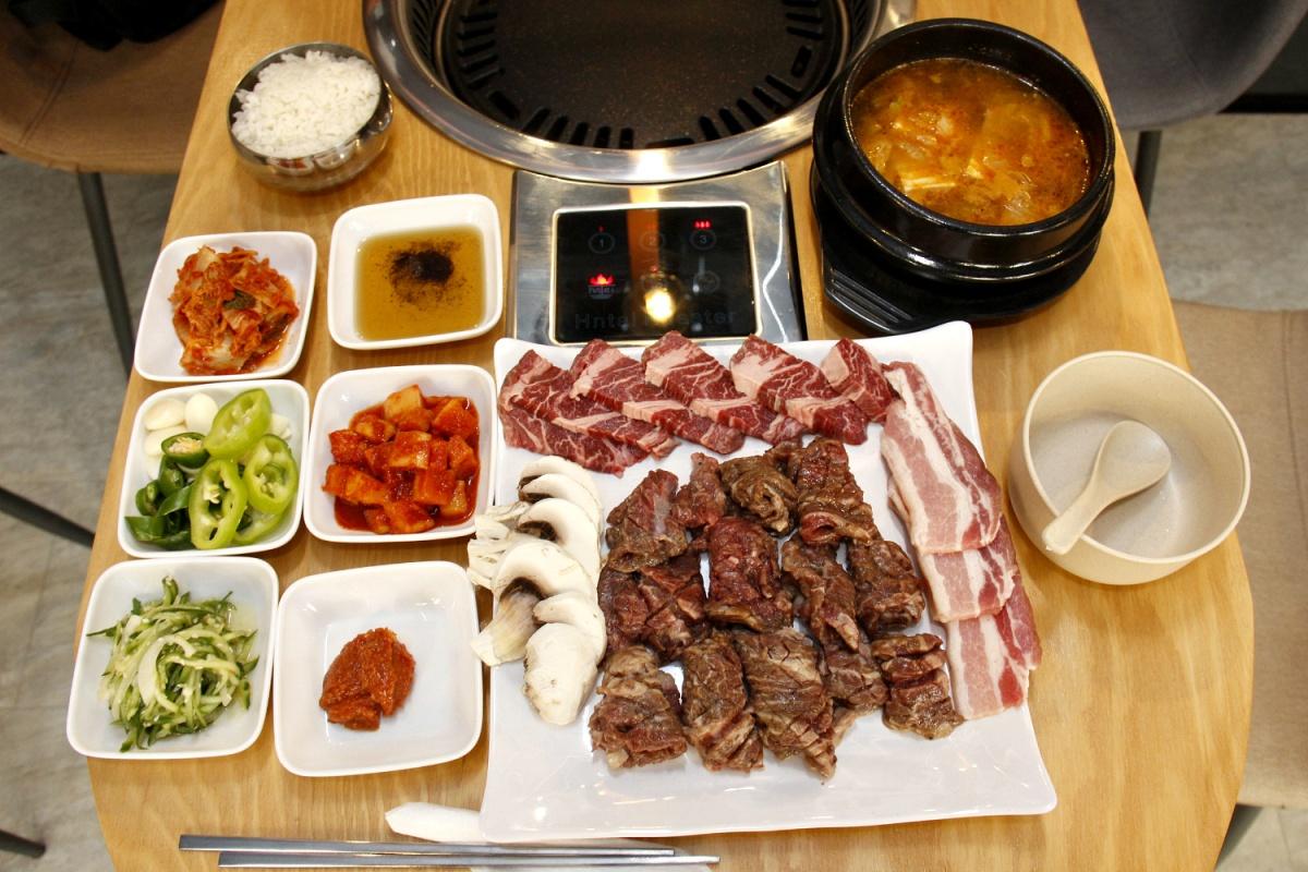 Порция корейского барбекю за 1100 рублей