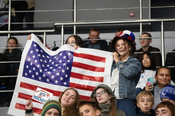 Красноярские школьники болеют за сборную США