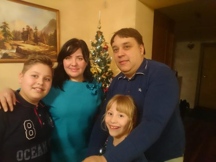 Родители Елена и Юозас, детиАнтанас и София
