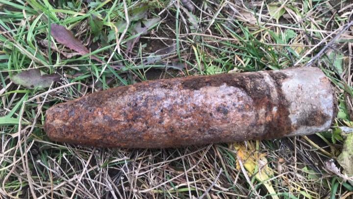 В прикамском поселке нашли артиллерийский снаряд
