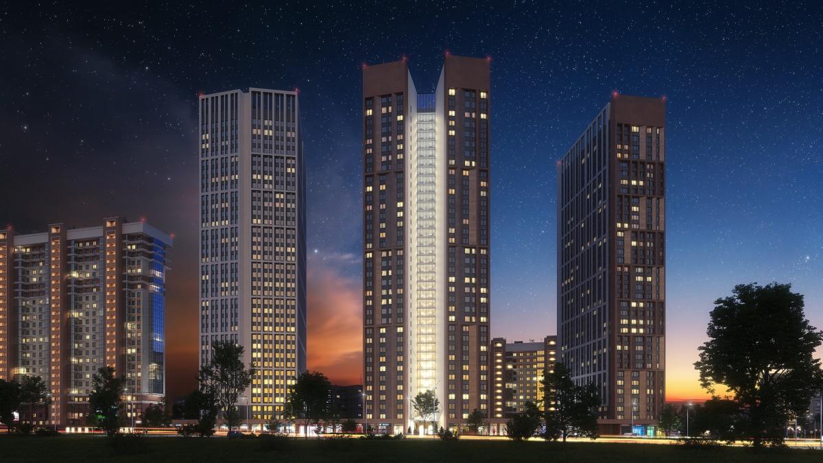 «Татлин» — это три жилые башни высотой около 100 метров