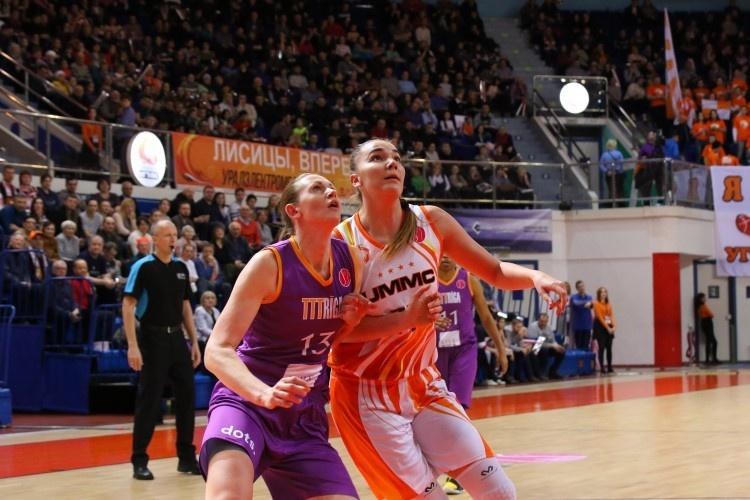 В первом матче четвертьфинальной серии Евролиги баскетболистки УГМК выиграли у чемпионок Латвии