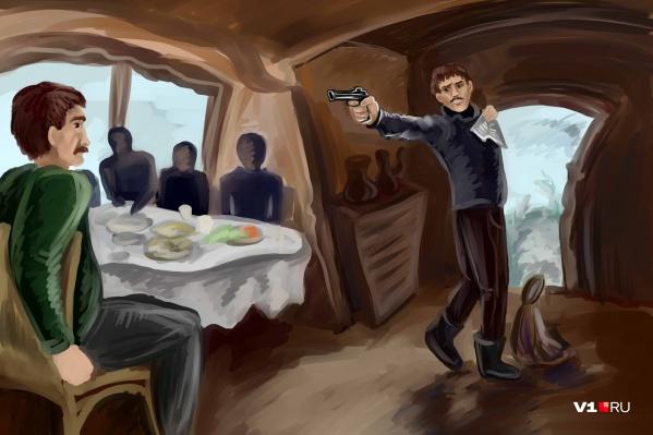 Требуя уважения, он не стеснялся размахивать мандатом и револьвером
