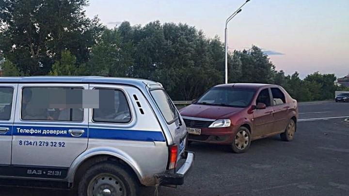 Под Уфой 18-летний водитель удирал от полиции на угнанном «Рено-Логане»