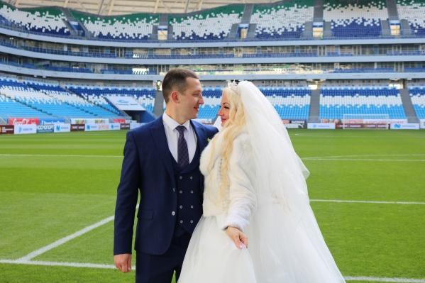 Невеста буквально светилась от счастья