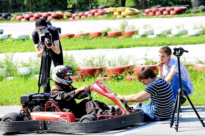 В Новосибирске идут съёмки художественного фильма о юных гонщиках «Капитан Флинт»