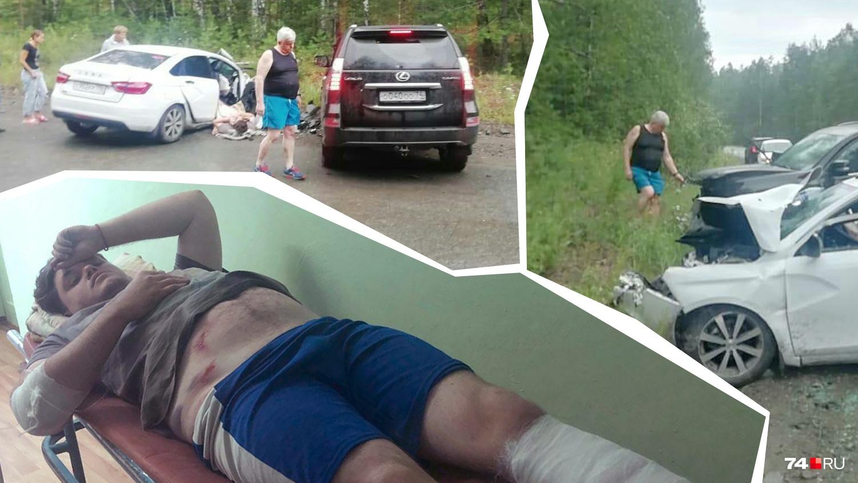 Раненному в аварии Владиславу вставили в ногу спицу