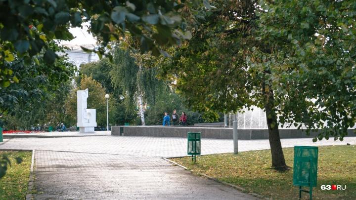 В Самаре сквер Высоцкого спрячут за двухметровым забором