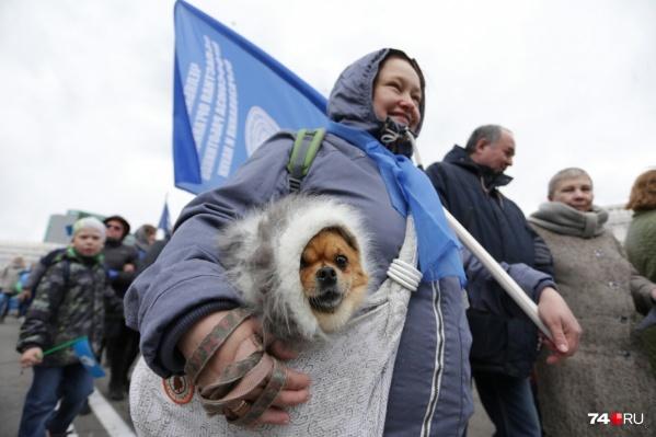 Собака — друг человека, в том числе на Первомай