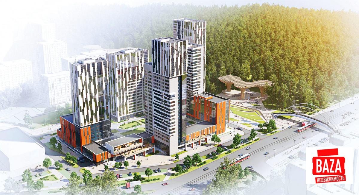 Жилой комплекс будет располагаться на самой границе лесопарка