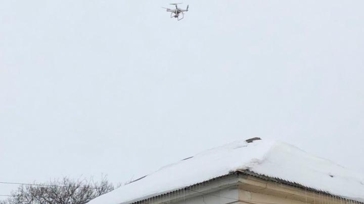 За снегом на крышах Ярославля начали следить с квадрокоптера