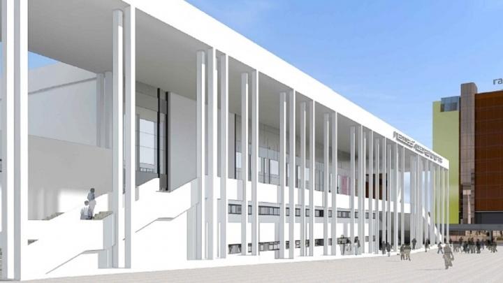 Первый этап строительства Дворца спорта на Молодогвардейской растянется до декабря 2019 года