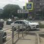 На северо-западе Челябинска иномарка вылетела на тротуар