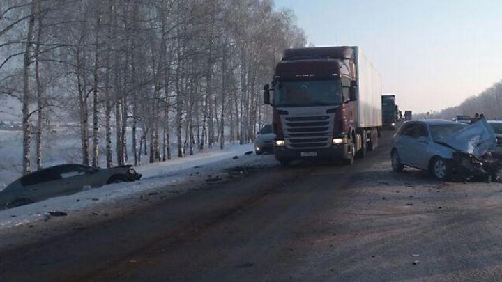 Стали известны подробности тройного ДТП на трассе Москва — Уфа