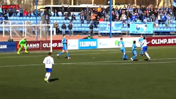 Волгоградский «Ротор» на последних минутах вырвал победу у «Зенита-2»: 1–0