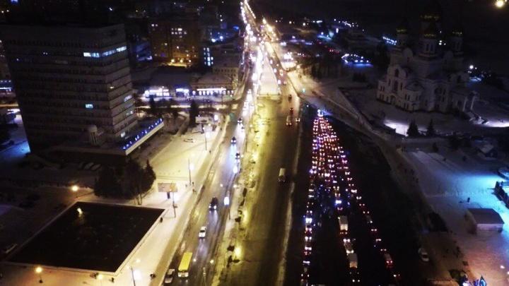В центре Архангельска из-за флешмоба «Автоёлка» в субботу будет перекрыто движение