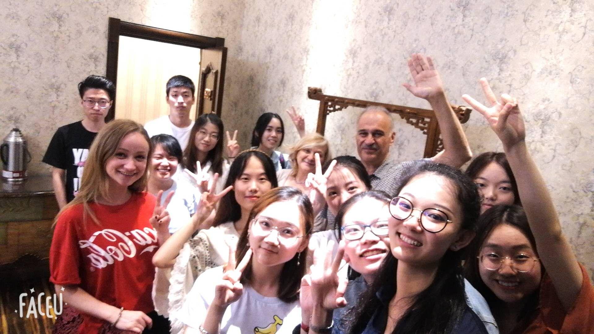 С коллегами и студентами отмечают окончание учебного года
