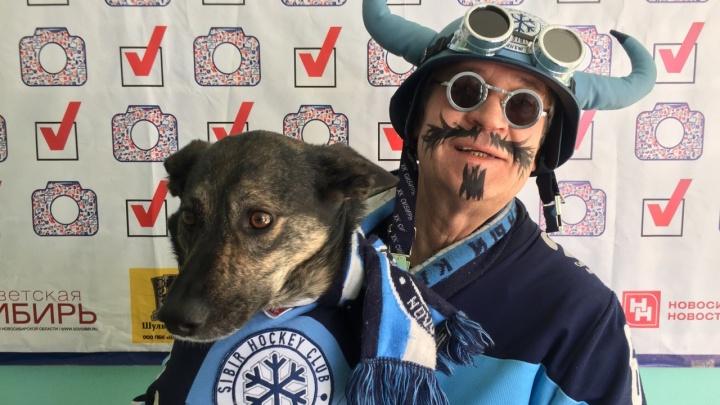 Болельщики ХК «Сибирь» устроили необычный флешмоб на избирательных участках