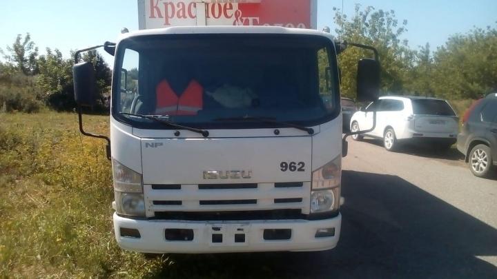 В Липецкой области напали на грузовикторговой сети «Красное и Белое» из Челябинска