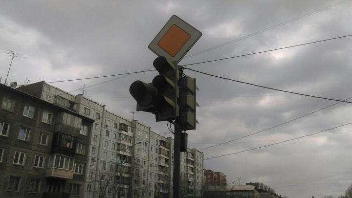 В центре Красноярска второй раз за неделю отключились светофоры