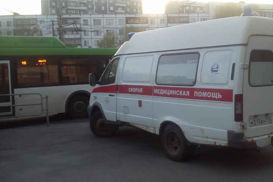 В аварии пострадала женщина, ехавшая в автобусе