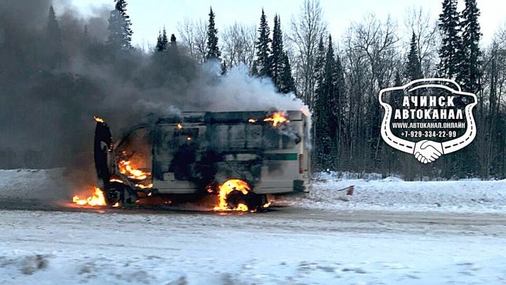 «Бабло горит»: на трассе сгорел инкассаторский автомобиль