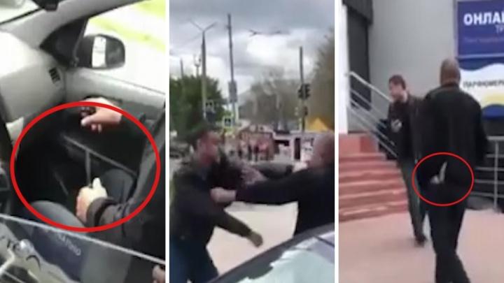 «Он нож взял!»: в Новокуйбышевске таксист угрожал холодным оружием семейной паре