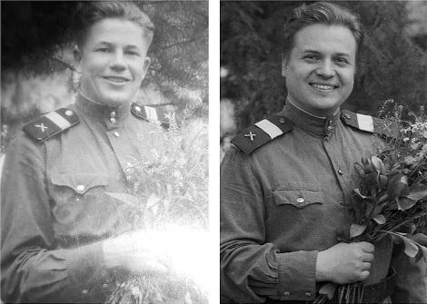 Дедушка Пётр Иосифович Селиванов и его внук Никита Сучков