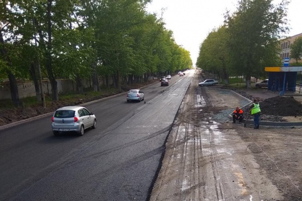 В городе появляются дороги с новым асфальтом