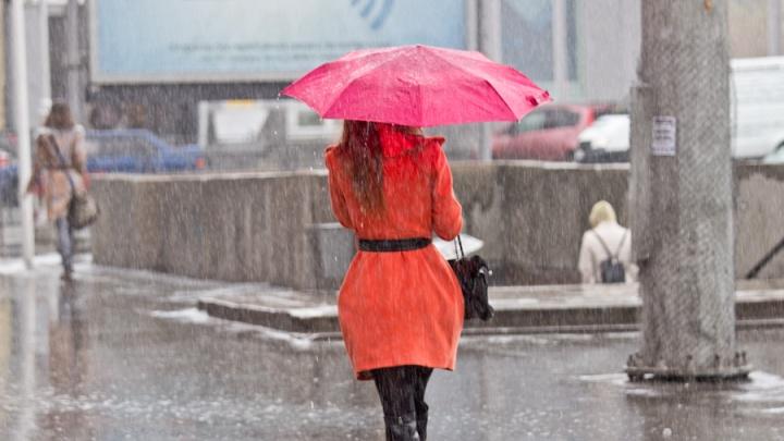 В Кемеровскую область идёт прохладная погода с дождём и мокрым снегом